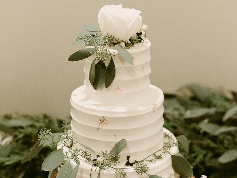 Three Tiered Wedding Cake - Mountainaire Gatherings Photography