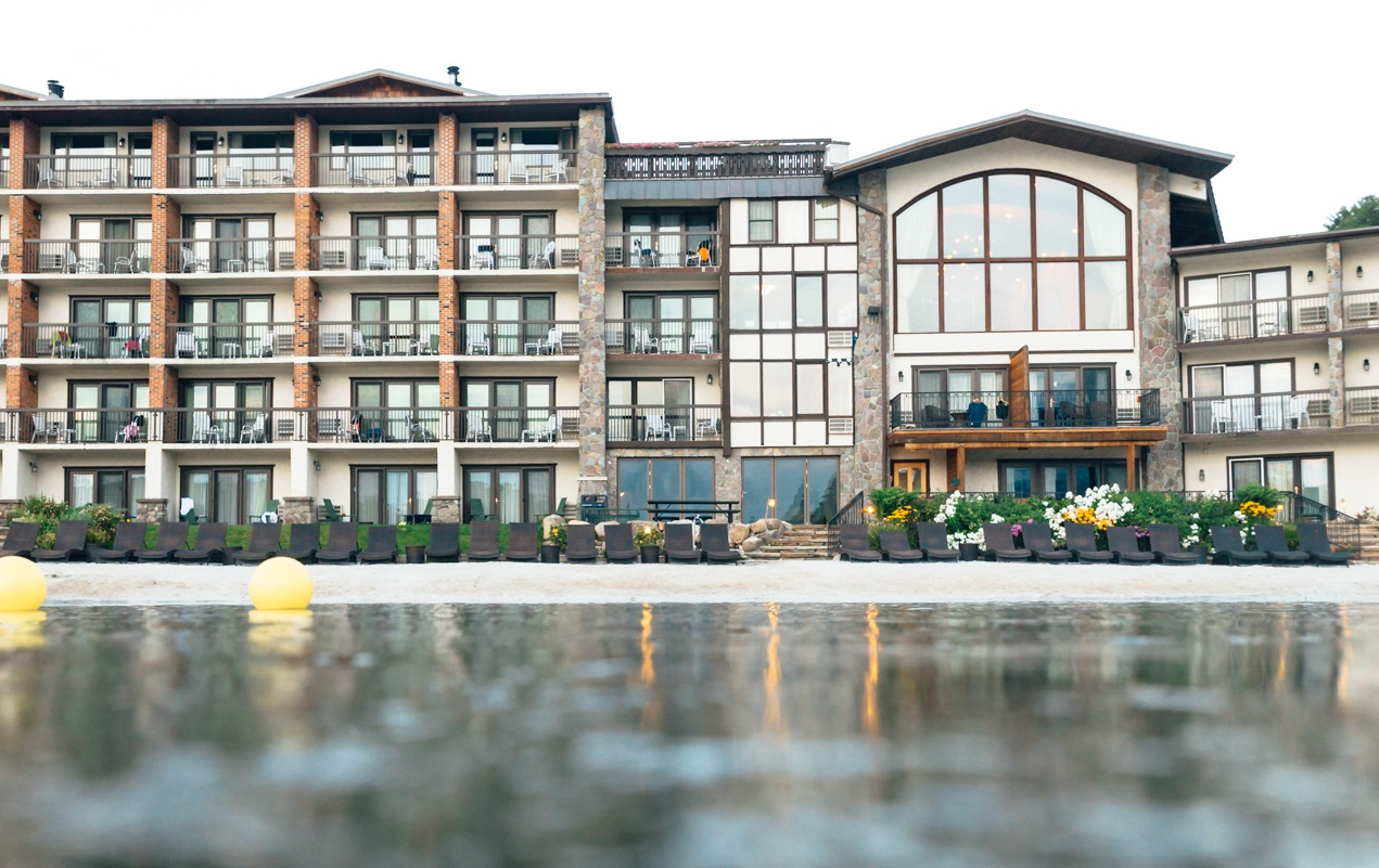 hotel view from the lake