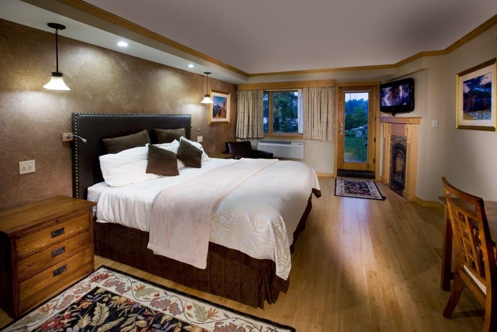 bed in haystack room