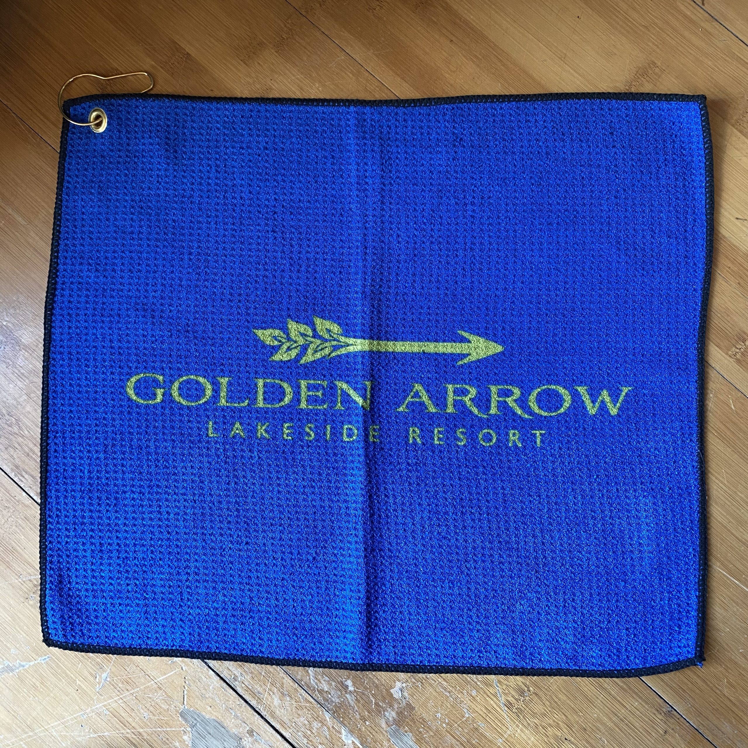 Golden Arrow Golf Towel - Blue