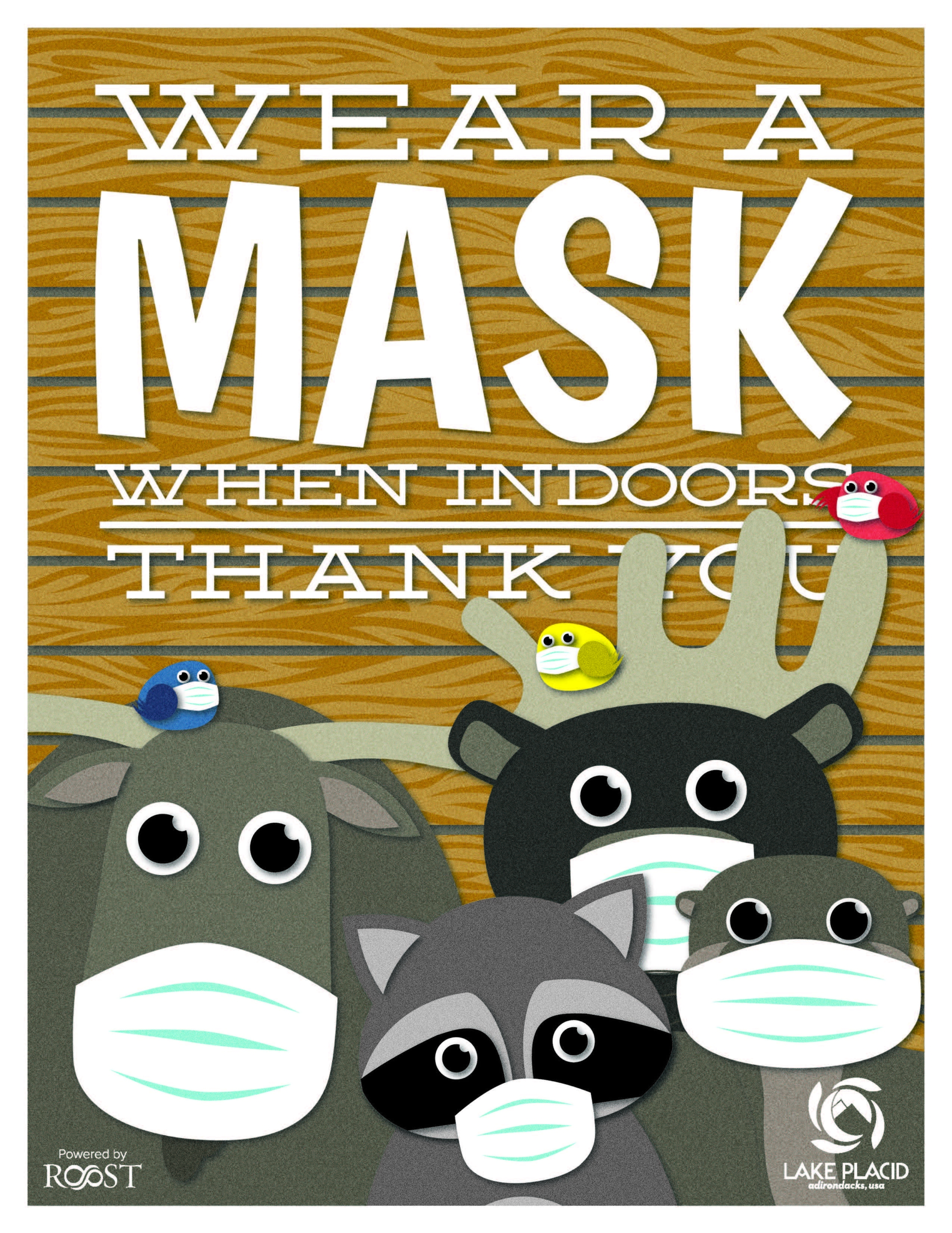 Wear a mask when indoors thank you